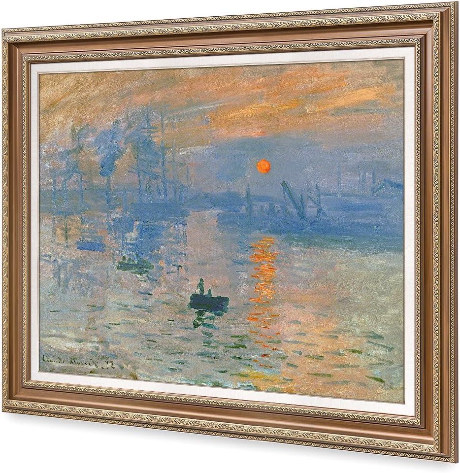 Amazon Com Decorarts Impression Sunrise Claude Monet Classic Art Giclee Prints Framed Art For Wall Decor Framed Size 36x30 Posters Prints