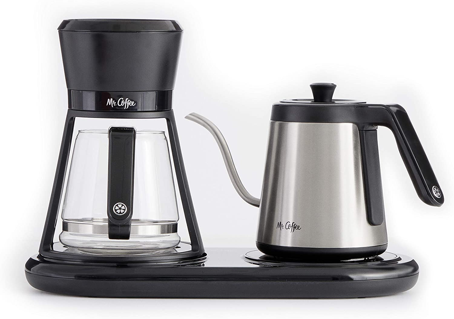 Amazon Com Mr Coffee Bvmc Po19b All In One Pour Over Coffee Maker 6 Cups Black Kitchen Dining