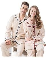 Men's 100% Cotton Sleepwear Set Long Sleeve Pajamas Pjs sets