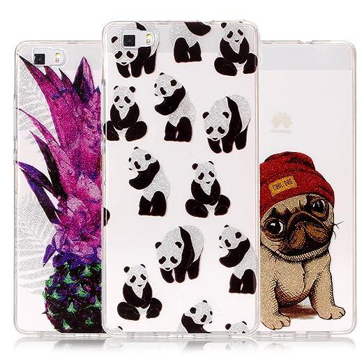 42 opinioni per Custodia Per Huawei p8lite Glitter, Vandot Set 3 IN 1 Cover Silicone, Custodia