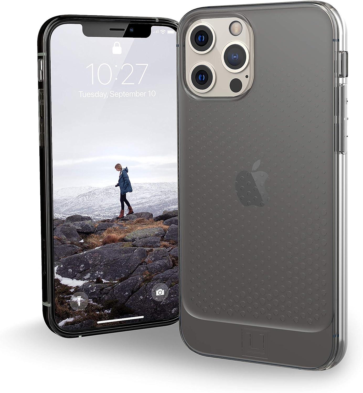 U By Uag U Lucent Hülle Apple Iphone 12 Iphone 12 Pro 6 1 Zoll Schutzhülle Halb Transparentes Case Wireless Charging Kompatibel Ultra Slim Bumper Ash Grau Transparent Elektronik