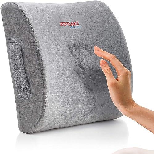 Ziraki Lumbar Pillow Back Pain Support - Seat Cushion For Car or Office Chair
