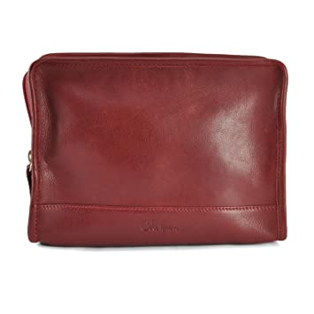 75ca2e3cb8e Amazon.com : Cole Haan A-Line Leather Cosmetic Toiletry Shave Kit, Lacquer  Red : Toiletry Bags : Beauty