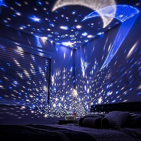 Eterichor proyector de luz Nocturna Estrellado, 2 en 1 Estrella ...