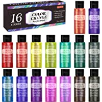 Color Change Acrylic Paint Set, Shuttle Art 16 Colors Chameleon Colors Acrylic Paint in Bottles (60ml/2oz), Non-Toxic…