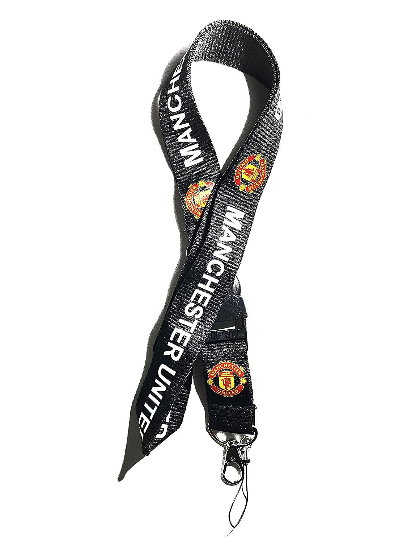Thinksmart Manchester United Lanyard Football Premier League PL Keyring ID Holder Phone Strap FC Soccer