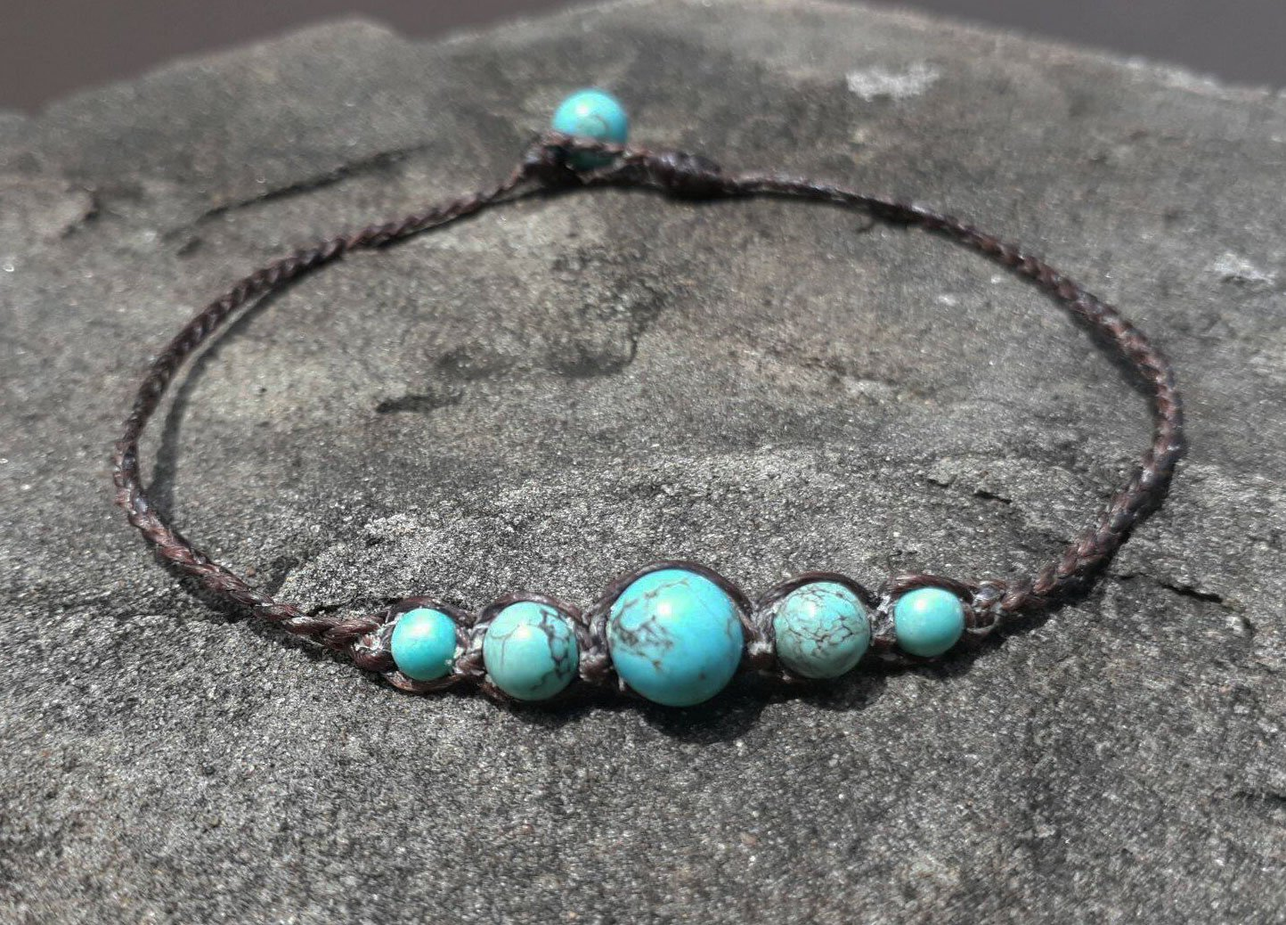 Turquoise anklets, stone anklets, anklets for men and women