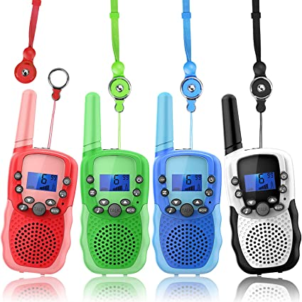 Two Way Radio Family Talkabout for Adults Cruise Ship Long Range Outdoor Camping Hiking Fun Toys Birthday Gift for 3 4 5 6 7 8 9 10 11 12 Year Old Girls Boys Wishouse Walkie Talkies for Kids