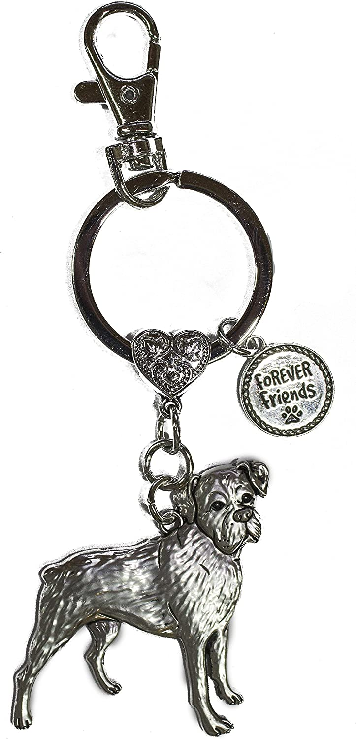 Poodle Dog Lovers Forever Friends Zinc Key Chain w// Clip