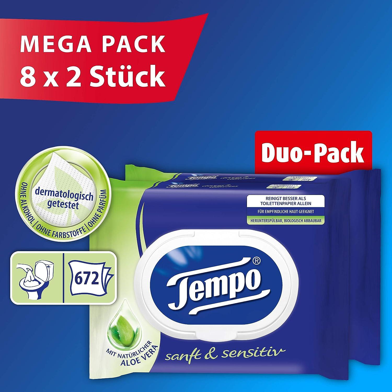Tempo funda Toalla Duo de caja 6/x 80/toallitas 6/x Duo Box