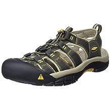 KEEN Men's Newport H2 Sandal, Raven/Aluminum, 15 M US