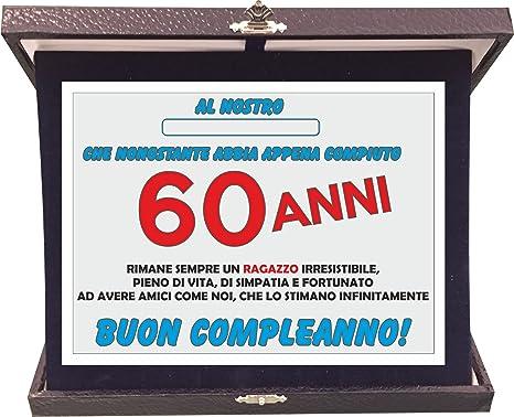 T Shirteria Targa Premio Compleanno 60 Anni Idea Regalo In