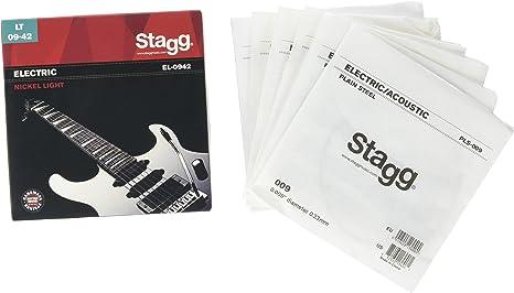 Stagg EL-0942 - Juego de cuerdas para guitarra eléctrica de níquel ...