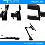 """Tanotis 6 Way Swivel Tilt Tv Wall Mount For Lcd/Led Tv'S Upto 32"""" To 47"""" Inch For Flat Wall Or Corner Mounting With Vesa Upto 400 Mm Tan Wvm 47D + Free Tanotis Remote Stand Tan Acc Rms"""