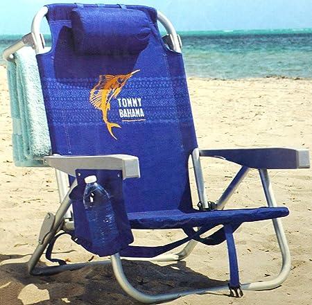 2 Tommy Bahama Sac à dos isotherme chaise avec Stockage Sac et porte-serviettes Bleu