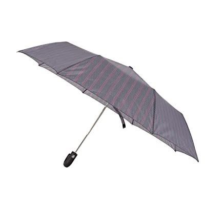 Honeystore Auto Open J Handle Totes Folding Compact Wind Resistant Rain Umbrella