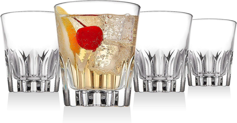 Set of 4 Godinger Old Fashioned Glasses Italian Made Beverage Cups 10oz