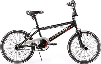 20 Pulgadas Popal Laser LED – Bicicleta BMX Marco, negro-blanco ...