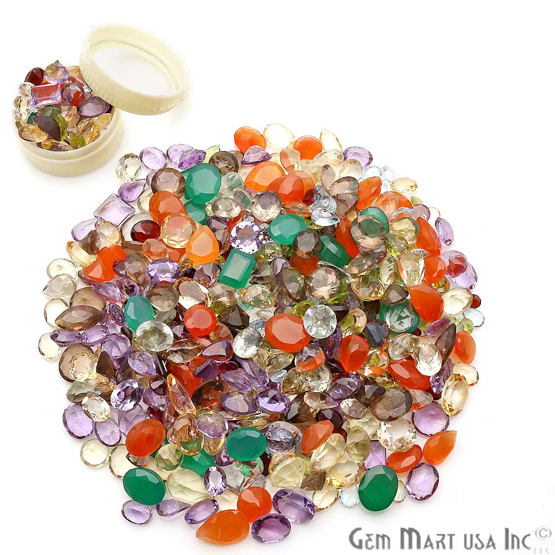 100+ Carats Loose Mixed Gems Wholesale Lot. Natural Faceted Semi Precious Gemstones. Gemmartusa Loose Gemstone