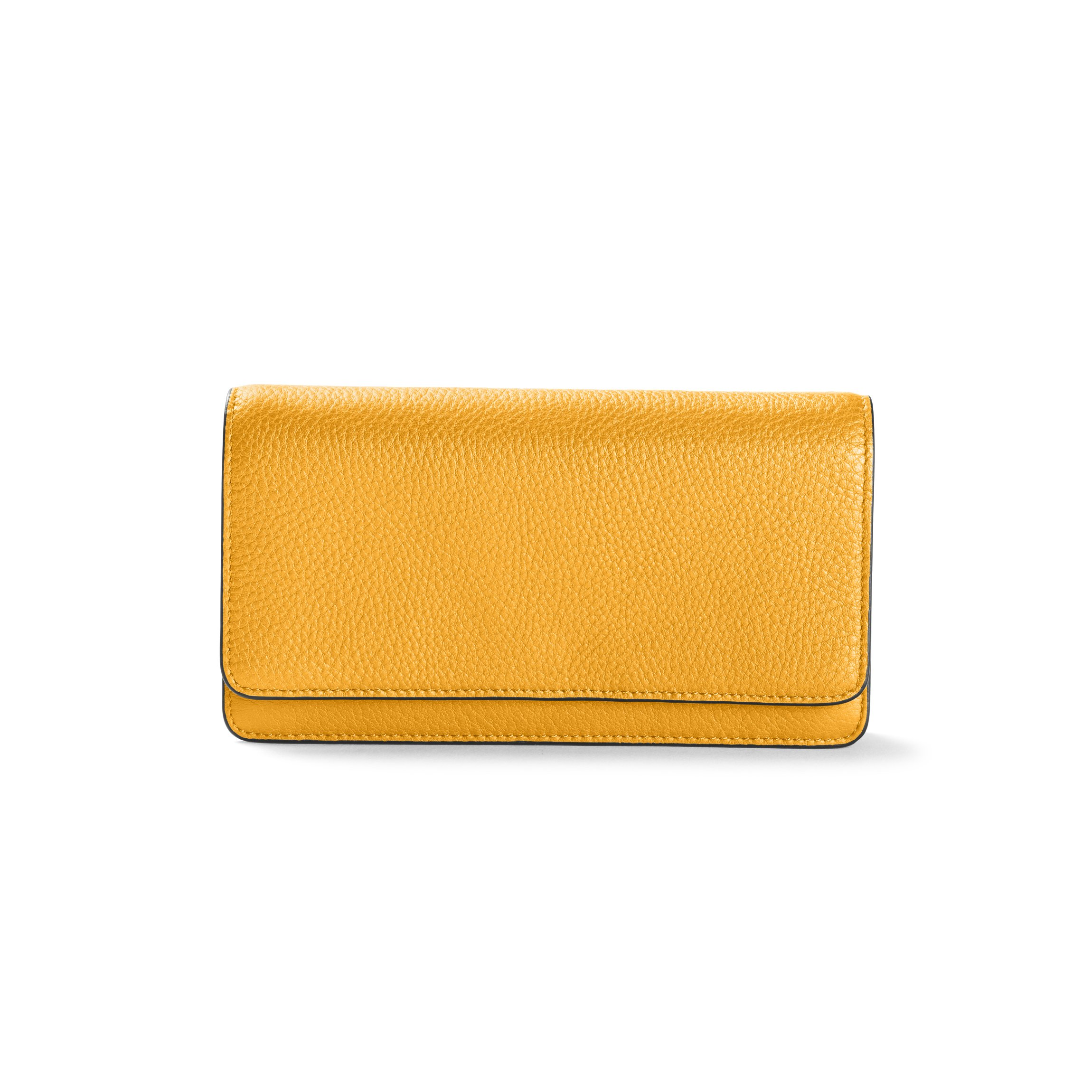 Katy Snap Wallet - Full Grain Leather Leather - Turmeric (yellow)