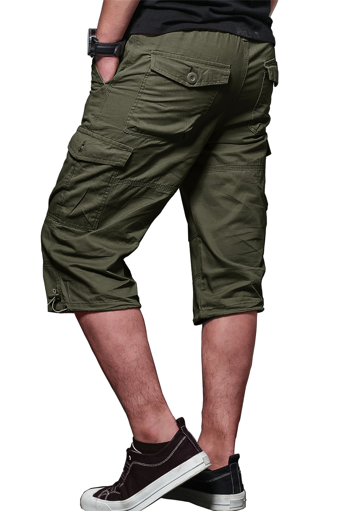 MAKEIIT Men's Juniors Cargo Shorts XXXL Cargo Shorts Dri Fit Cargo Shorts with Multi-Pocket by MAKEIIT (Image #3)