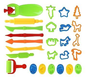 23 PCS Herramientas del modelo Clay and Dough,Kit de herramientas para masa de arcilla