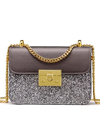 426acc94d44b LA FESTIN Ladies  Fashion Shoulder Chain Purse Small Glitter Side Bag for  Girls PU