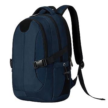 f7139f112d2f MarsBro リュック ビジネス PC収納 多機能 ポケット 防水 快適 通勤 旅行 通学 男女兼用 ブルー