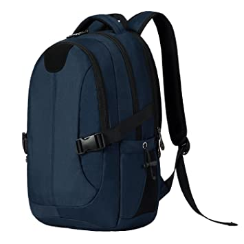 b34eca66be21 MarsBro リュック ビジネス PC収納 多機能 ポケット 防水 快適 通勤 旅行 通学 男女兼用 ブルー