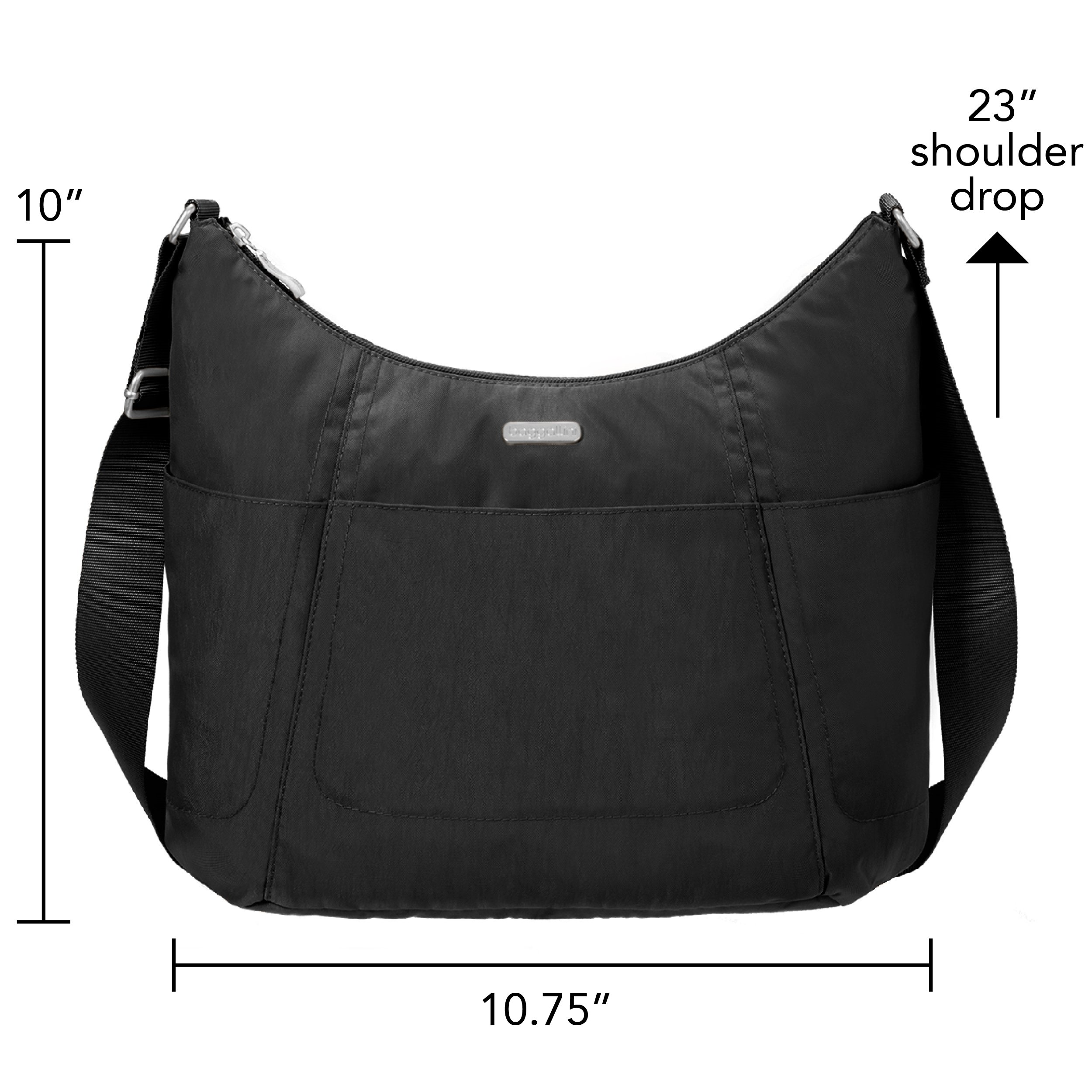 Baggallini Hobo Travel Tote, Black, One Size by Baggallini (Image #2)