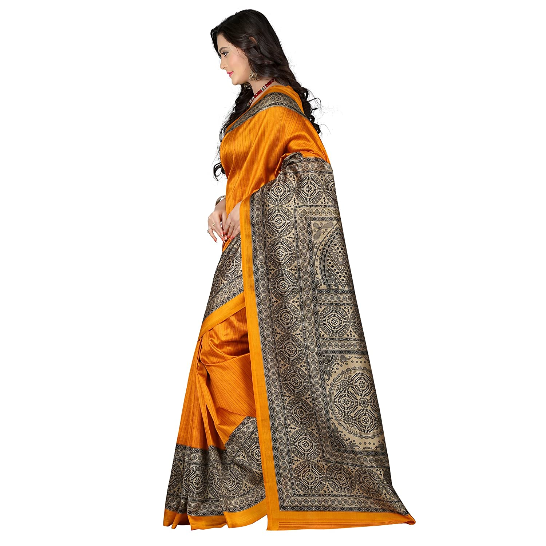9509922d0 E-VASTRAM Women s Art Mysore Printed Silk Saree (NS5A yellow)  Amazon.in   Clothing   Accessories