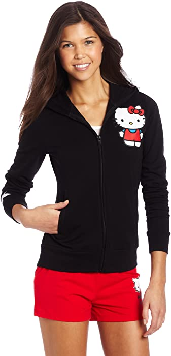 a07c0405a Amazon.com: Hello Kitty Women's Hooded Jacket, Black, X-large: Clothing