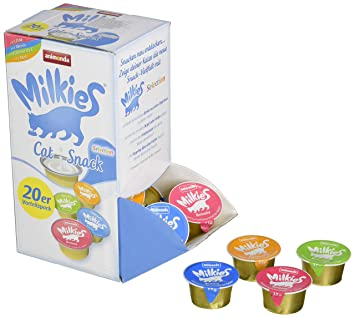 Animonda Milkies Selection, 4 Tipos de 5 Cápsulas=20 Cápsulas de 15 g: Amazon.es: Productos para mascotas