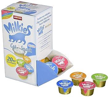 Animonda Milkies Selection, 4 Tipos de 5 Cápsulas=20 Cápsulas de 15 g: Amazon.es: Productos para mascotas