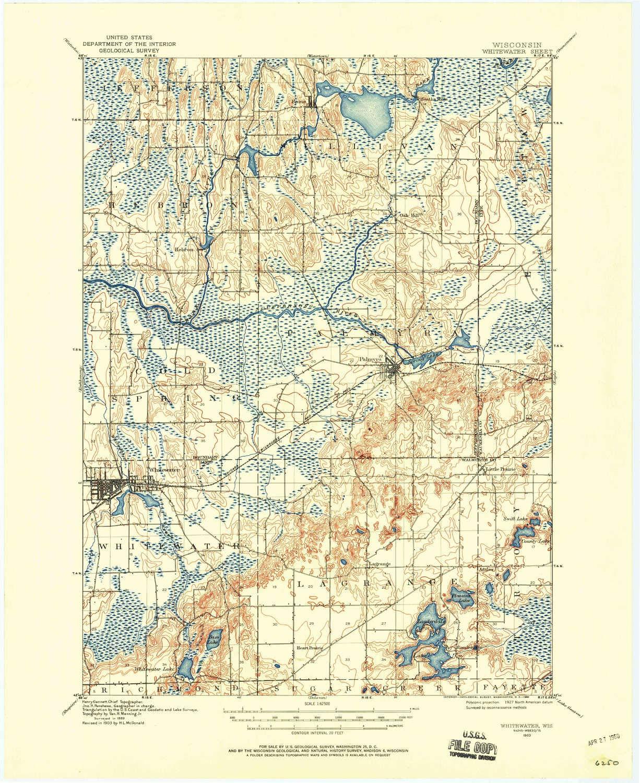 Amazon Com Yellowmaps Whitewater Wi Topo Map 1 62500 Scale 15 X
