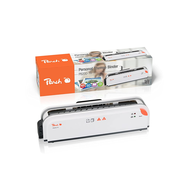 Peach PB200-70 Thermobindegerät DIN-A4 | Testsieger* | schnell startklar | nur 1 min. Bindezeit | einfachstes und schnellstes Bindesystem 3T Supplies AG
