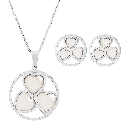 Amazon.com: EDFORCE pulsera de 3 corazón en círculo ...