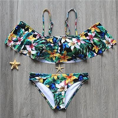 La sangle est moderne et confortable tendance bikini_plafond feuilles de lotus d'installations modernes et confortables en coton bikini l'impression de haute sécurité pour timbres Maillot amincissant