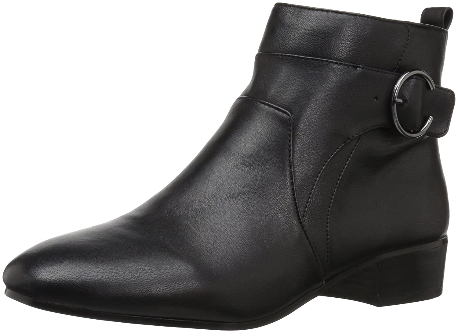 Nine West Women's Odgerel Leather Ankle Boot B071VND2XL 7.5 B(M) US|Black Leather