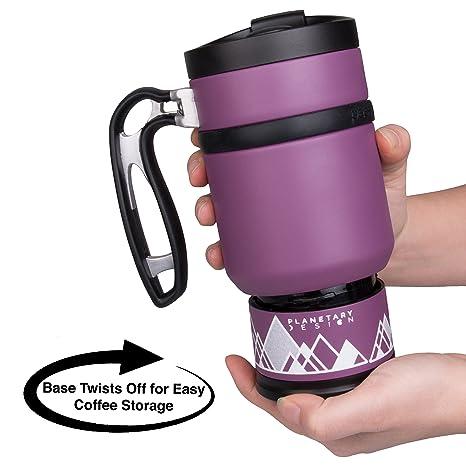 0ff7dc360af Double Shot 3.0 French Press Travel Coffee Mug, 16 oz - Brü-Stop Technology