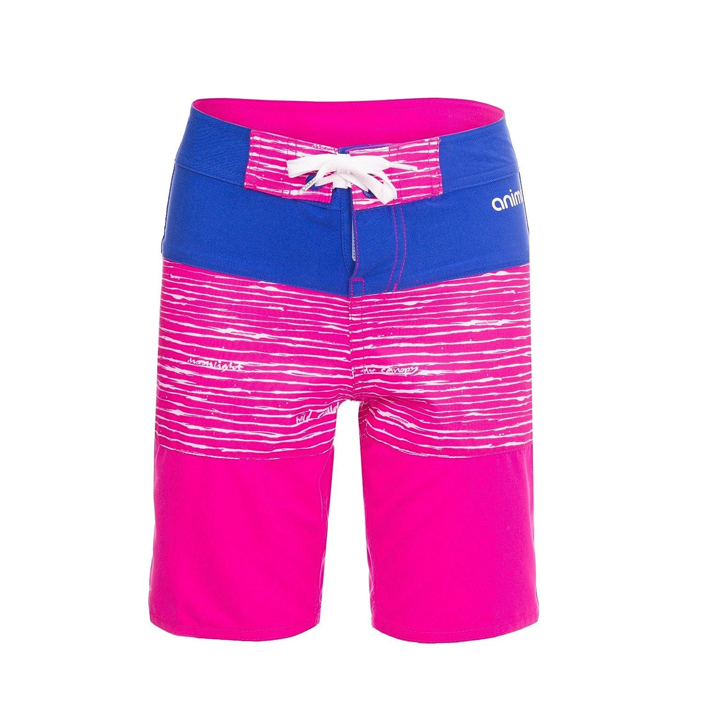 2bc05d7b7a Amazon.com: Animal Childrens Girls Blocka Boardshorts (7/8 Years) (Lily  Pink): Clothing