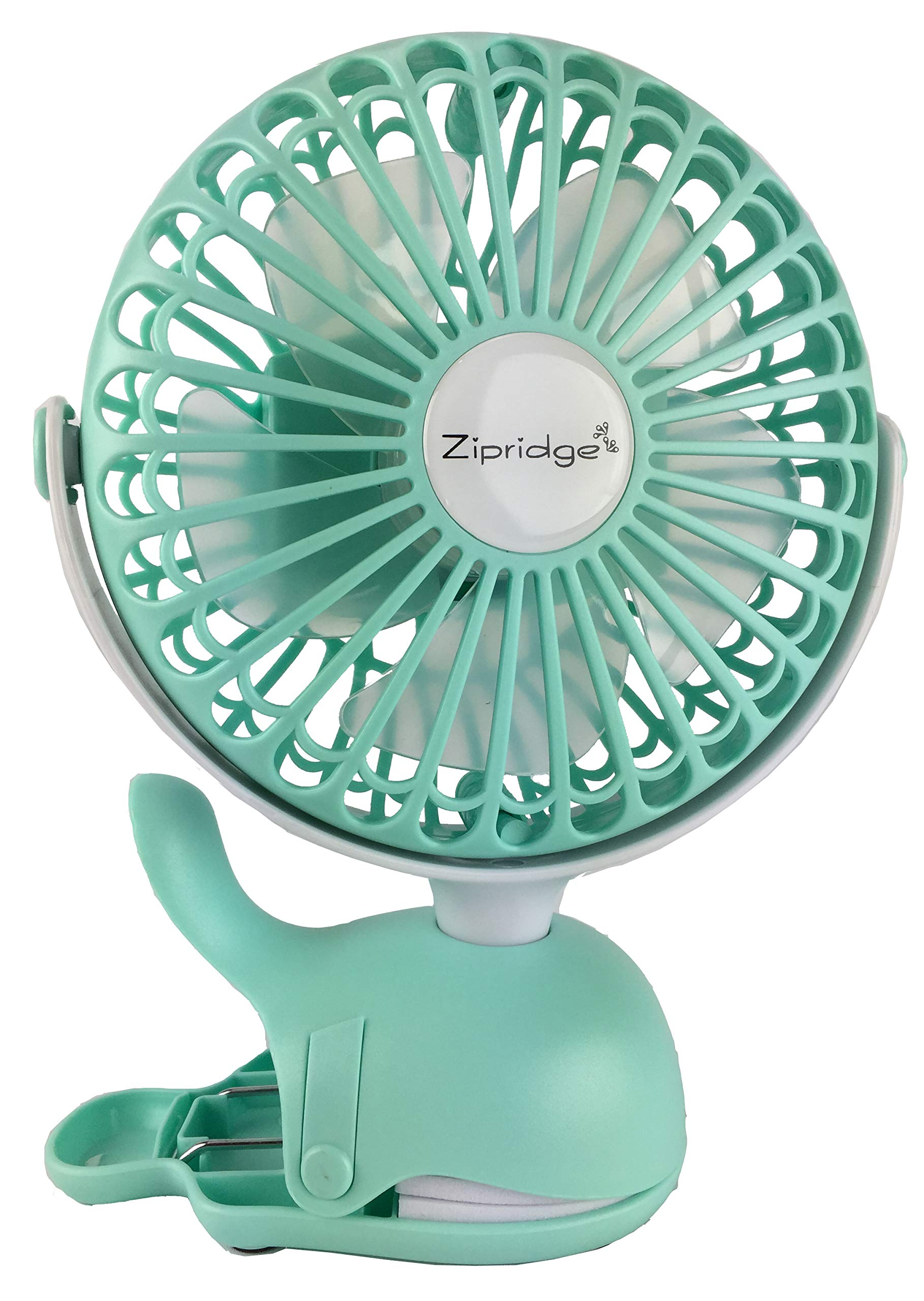 Clip On Baby Stroller Fan With Rechargeable Battery Perfect for Infant Crib, Golf Cart, Car Seat, Office Desk, Camping, or Workout in A Playful Whale Design by Zipridge