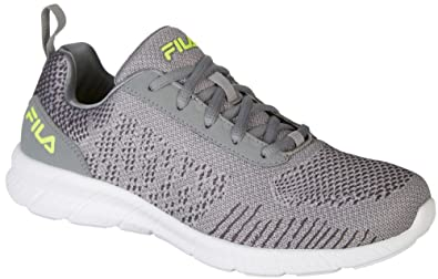 cedf811250f2 Fila Men s Memory V-Knit Monument Dark Shadow Safety Yellow 9.5 ...