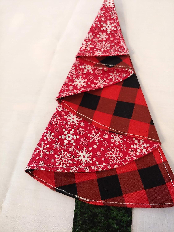 Christmas Napkins Black Red Plaid