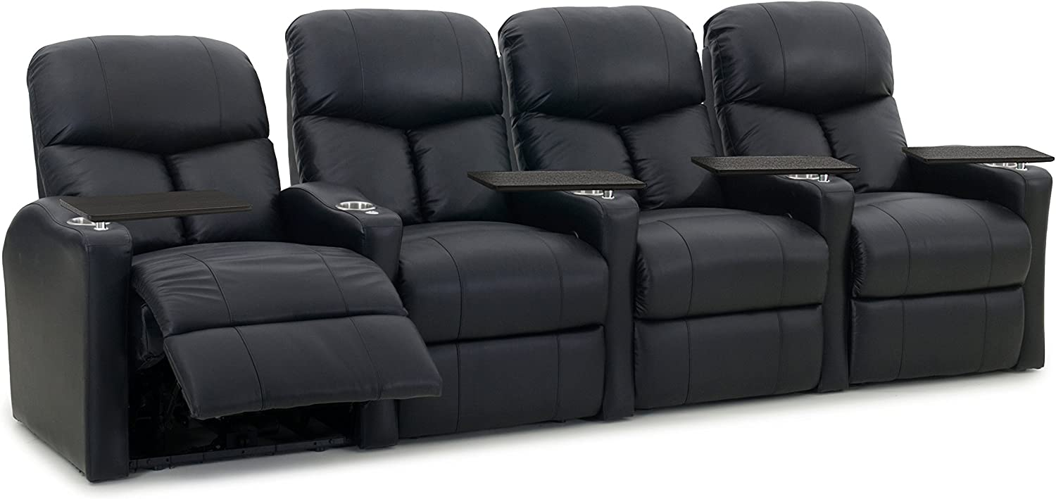 Octane Seating Octane Bolt XS400 Leather Home Theater Recliner Set Row of 4