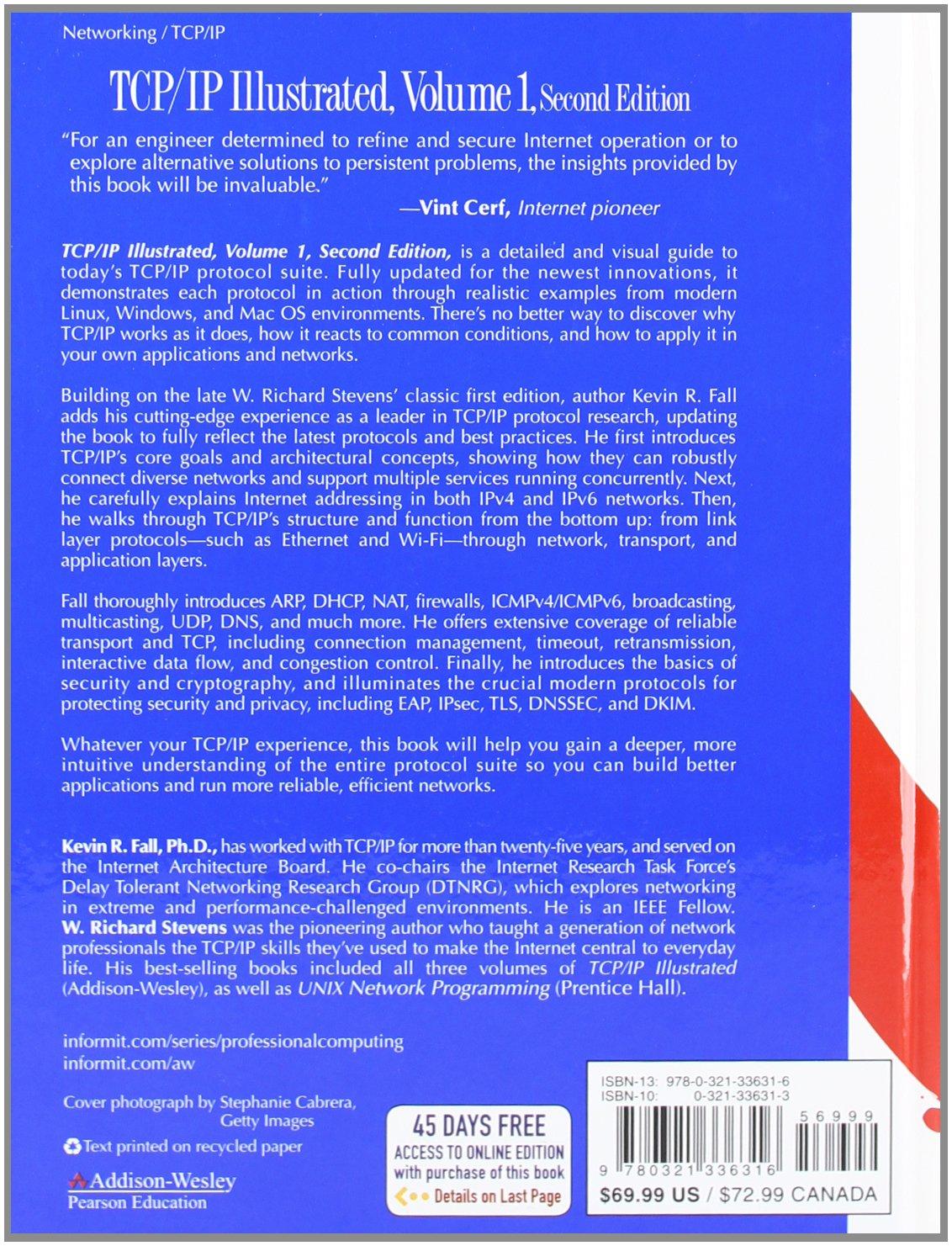 TCP/IP Illustrated, Volume 1: The Protocols (2nd Edition) (Addison-Wesley Professional Computing Series) by Addison-Wesley Professional