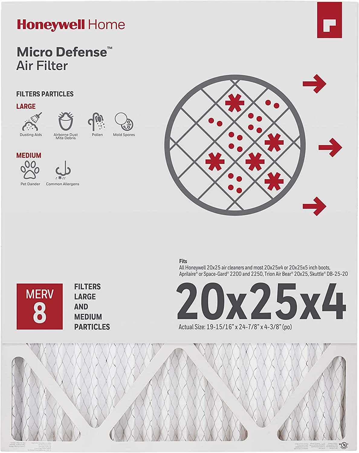 Merv 8 20x25x4 High Efficiency Furnace Filter For AprilAire 5 Pack 2200 2251