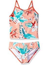 5943b5992a99c Kanu Surf Girls  Melanie Beach Sport 2-Piece Banded Tankini Swimsuit