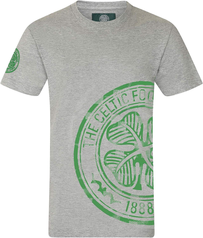 Geschenk f/ür Fu/ßballfans Herren T-Shirt mit Grafik-Print Offizielles Merchandise Grau Celtic FC