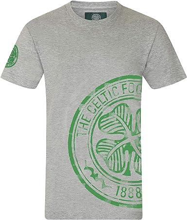 Celtic FC - Camiseta Oficial para Hombre - Serigrafiada - Logo en ...
